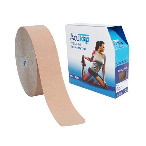 AcuTop® Premium Kinesiologitejp, 5 cm x 32 m, beige