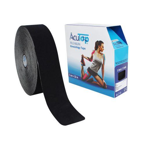 AcuTop® Premium Kinesiologitejp 5 cm x 32 m, svart