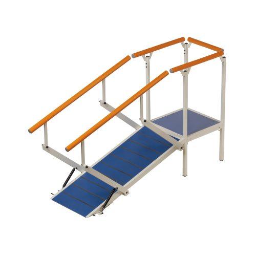 Hörntrappa, plattform med 1 trappmodul (Exempel)