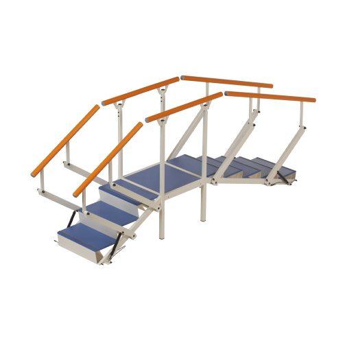 Hörntrappa, plattform med 2 trappmoduler