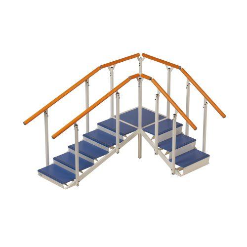 Hörntrappa, plattform med 2 trappmoduler (hörn)