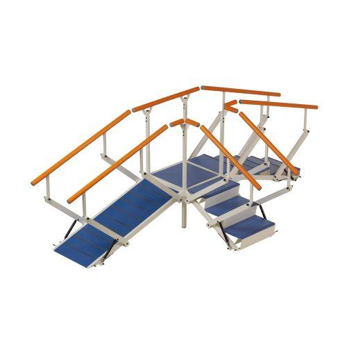 Hörntrappa, plattform med 3 trappmoduler