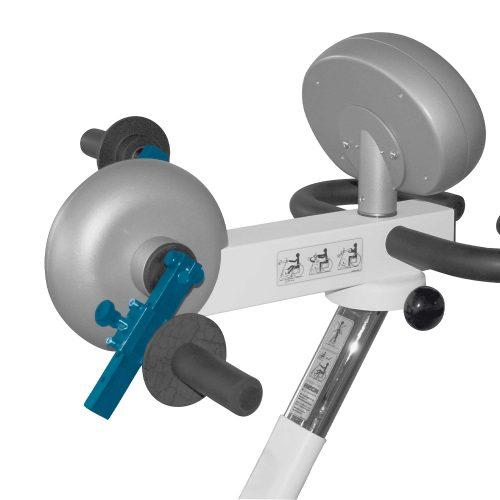 Snabbjustering av pedalradie i 4 lägen för armträning